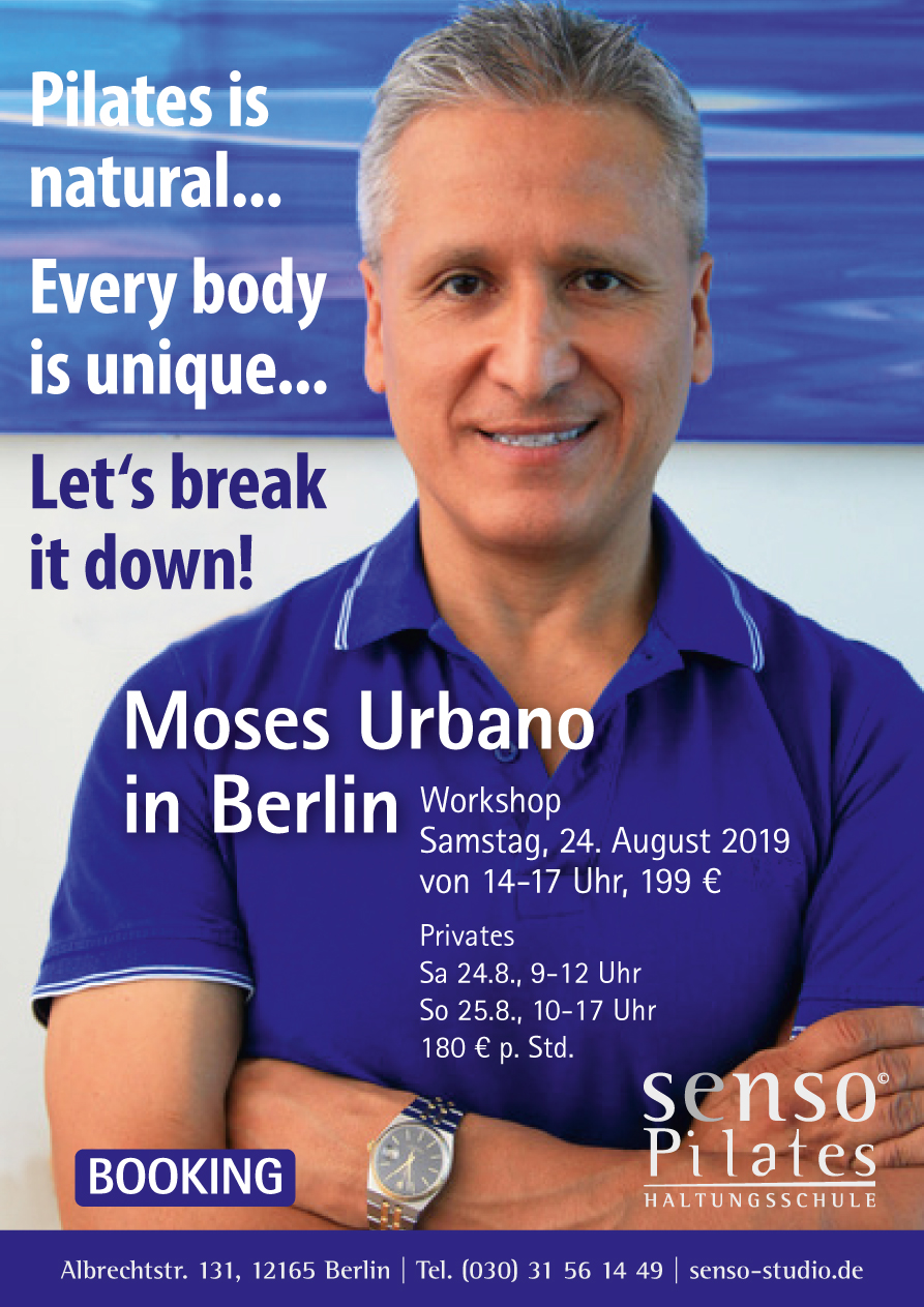 Moses Urbano kommt in Senso Studio